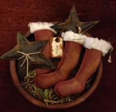 Christmas Believe bowl fillers by Countrybabiesusa on Etsy, $13.95
