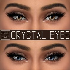 ALL MY SIMS — simpliciaty:  Crystal Eyes  Comes in 15 colors; HQ...