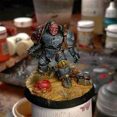 Legion Space Wolf. I am preparing a gift for a friend .  #skullstudio #painting…