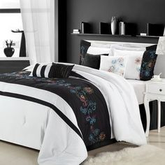 Luxury Home Nara Embroidered 8 Piece Comforter Set