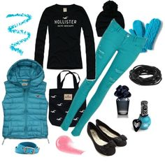 A fashion look from January 2013 featuring Hollister Co. t-shirts, Hollister Co. vests and Accessorize flats. Browse and shop related looks.