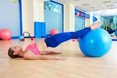 Photo about Pilates woman pelvic lift fitball exercise workout at gym indoor swiss ball. Image of gymnast, instructor, body - 58768225 Stability Ball Exercises, Pelvic Floor Exercises, Circuit Exercises, Core Exercises, Abdominal Infra, Training Apps, Leg Circuit, Psoas Muscle, Different Exercises