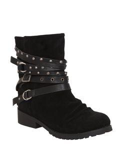 N.Y.L.A. Santa Fe Black Boots | Hot Topic