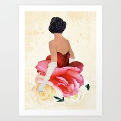 MAY QUEEN Art Print by Beth Hoeckel Collage & Design - $16.00