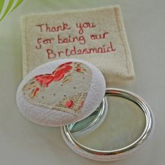Personalised Wedding Favour Compact Mirror - wedding favours Zoe and Chantelle Wedding Thank You Gifts, Wedding Favors Cheap, Personalized Wedding Favors, Wedding Favours, Personalized Gifts, Easy Gifts, Unique Gifts, Handmade Gifts, Alternative Wedding Gifts