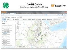 Making Printable Maps from ArcGIS Online