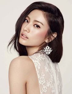 Natural Wedding Makeup  we ❤ this! She is a K-POP star Nana from Afterschool !   moncheribridals.com