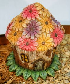 Another great find on #zulily! Fairies & Flowers Garden House Figurine #zulilyfinds