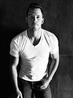 Chris Pratt in a White T