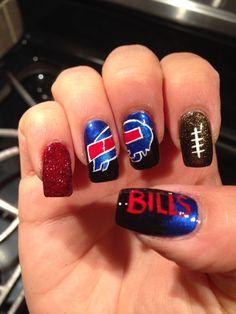 buffalo+bills+nail+art   Nail art Buffalo Bills