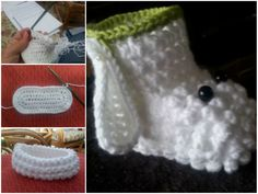 Cordeiro Crochet Sapatinho GRÁTIS Pattern