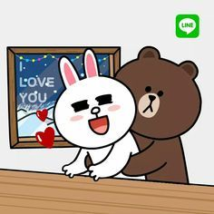 Cute Bunny Cartoon, Cute Cartoon Images, Cute Love Cartoons, Baby Cartoon, Cute Love Pictures, Cute Love Gif, Bunny And Bear, My Teddy Bear, Cute Bear Drawings