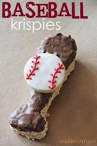 Baseball krispie treats!
