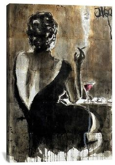 "iCanvas Cocktail by Loui Jover Canvas Print - 18\""x12\\"""