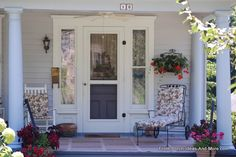 Simple summer porch made for relaxing & lemonade! See more summer porch ideas at Front-Porch-Ideas-and-More.com #porch