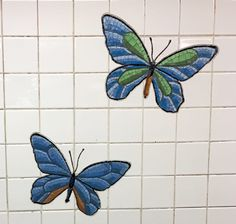 Butterflies Tile Mosaic in the 5th Avenue Subway