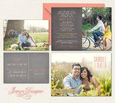 Custom Photo Wedding Invitation Set by Jeneze on Etsy, $35.00