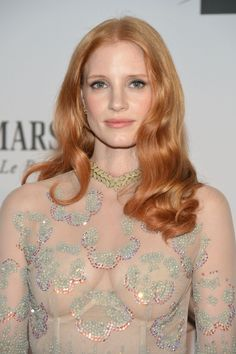 Jessica Chastain curvy see through