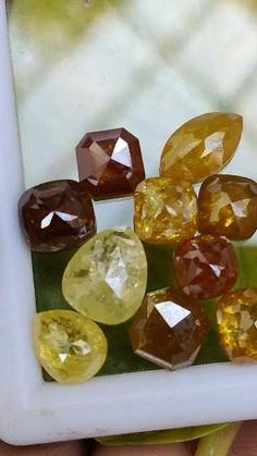 Diamond Color Scale, Unique Rings, Unique Jewelry, Natural Salt, Salt And Pepper Diamond, Yellow And Brown, Gems And Minerals, Colored Diamonds, Etsy Seller