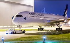 The second A350-900 for Cathay Pacific is out of the paint shop!