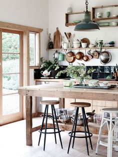 Kitchen Interior Design - Farmhouse Kitchen Inspiration - Pursue your dreams of the perfect Scandinavian style home with these inspiring Nordic apartment designs. Kitchen Interior, Interior, Home, Vintage Kitchen, Kitchen Remodel, Kitchen Decor, House Interior, Home Kitchens, Rustic Kitchen