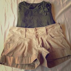 Express shorts Awesome condition! Size 6. Length from top to bottom is about 11 inches. Waist laying flat is 16 inches. Express Shorts