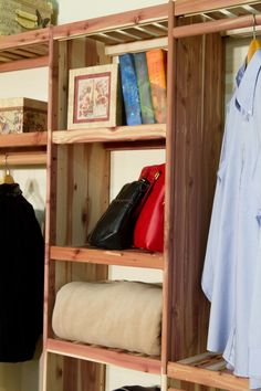 Solid Cedar Closet Storage Shelving. This Deluxe Closet Organization Kit Is  A Wonderful DIY Project