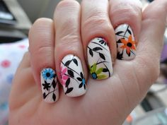 Fáciles Diseños para Uñas con Flores para Principiantes - Manicure