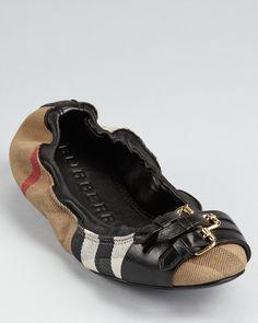 Burberry Ballerina Flats -   CUTE!!!!