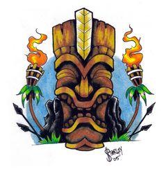 KU - the tiki war god. by ~inkeduptrash on deviantART