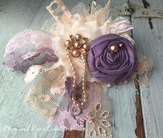 Dusty Lavender, Taupe, French Lavender, Shabby Chic Headband, Newborn Headband…