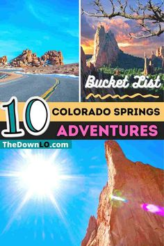 The ultimate guide to Colorado Springs things to do. Most people think Denver when planning a trip to #Colorado, but Colorado Springs has more bucket list Rocky Mountain experiences for family road trips and vacation ideas with kids. Here is what to do, see and eat including restaurant recommendations, awesome nature hikes, and beautiful places to visit. Photo spots from Pike's Peak to the free Garden of the Gods, Seven Falls, and Manitou Springs in summer, winter or fall. #travel #usa… Usa Places To Visit, Beautiful Places To Visit, Us Road Trip, Family Road Trips, Colorado Springs Restaurants, Visit Colorado, Travel Usa, Travel Tips, Travel Around