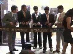 Shahrukh Khan inaugrating the Tag Heuer showroom.