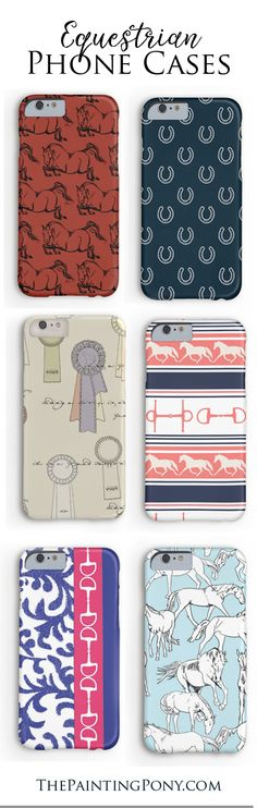 equestrian phone cases for the horse lover with fun and colorful iphone and samsung galaxy model cases featuring hunter jumper horses, horse shoes, ponies, and other fun artwork. These are sooo cute! Cute Horses, Horse Love, Horse Tack, Horse Shoes, Horse Accessories, Horse Gifts, Little Bit, Clothes Horse, Horse Clothing