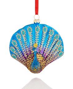 Holiday Lane Peacock Ornament | macys.com