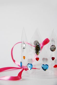 DIY Bejeweled Crown - made from a plastic bottle