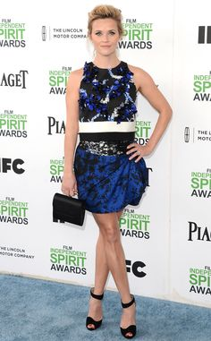 Reese Witherspoon in Giambatista Valli from 2014 Film Independent Spirit Awards: Red Carpet Arrivals | E! Online