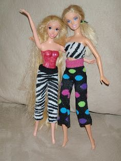 Michka's Creative Solutions: Tutorial: Upcycle SOCKS into Barbie Clothes!