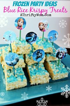 Frozen Party Ideas, Disney Frozen food, Frozen Party, How to make Disney Frozen Rice Crispy Treats #Frozen, #Disney #DisneySide