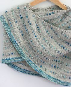 Dot Shawl - not bobbles, don't have to turn your work. Hmmm!