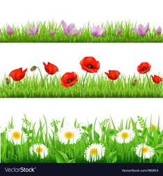 Floral Banners vector image on VectorStock Kids Background, Banner Background Images, Free Clipart Images, Vector Free, Flower Border Clipart, Flower Borders, 3d Sidewalk Art, Clip Art Pictures, Floral Banners