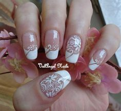 Wedding-Nail-Art-Pictures-and-Ideas-White-Flower