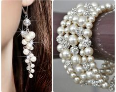 Wedding Jewelry Set Bridal Jewelry Set Pearl by AllThingsTinsel