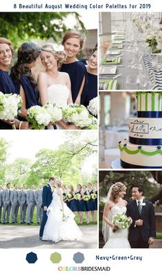 b4efa8ecc080e 8 Beautiful August Wedding Color Palettes for 2019 -No.3 Navy