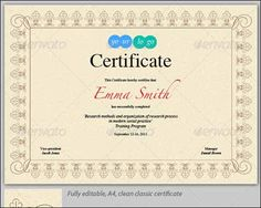 Stylish Award Certificate  Fonts Psd Templates And Note