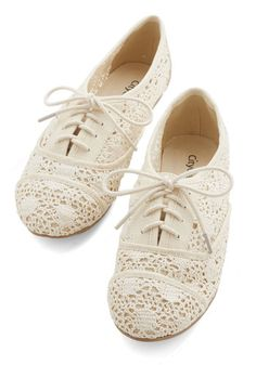 The Diminuendo Flat - Woven, Cream, Solid, Crochet, Casual, Boho, Festival, Good, Lace Up