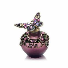 Perfume Bottle (Purple Butterfly Stopper with Decorative Stones) Model No. PB-670 by Welforth. $35.00. Buy Welforth Decorative Perfume Bottles - Perfume Bottle (Purple Butterfly Stopper with Decorative Stones) Model No. PB-670. Save 27% Off!