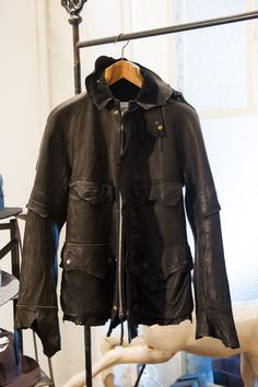 Entering its eighth season, Takahiro Miyashita implemented a theme for the first time, when he worked on the Fall/Winter 2013 collection of The Soloist, Motorcycle Jacket, Fall Winter, Leather Jacket, Graphic, Archive, Jackets, Japanese, Trends