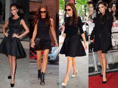 Victoria Beckham en noir