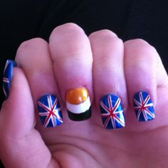 "My daughter is such a ""One Direction "" fan she did her nails after them!"